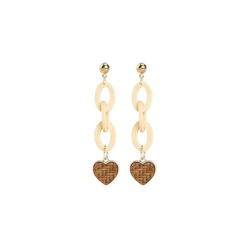 1047014 - <ER1685_CC17> [clip type] Orland heart earrings