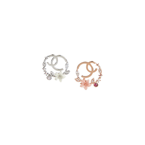 1046876 - <ER1652_DA09> [Silver Post] Clair earrings