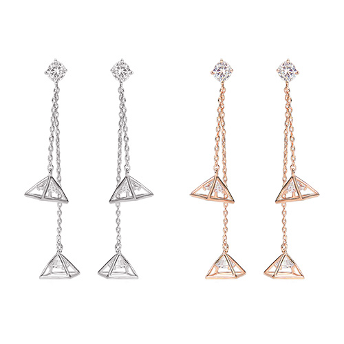 1046931 - <ER1663_DE10> [Silver Post] Daphne long earrings