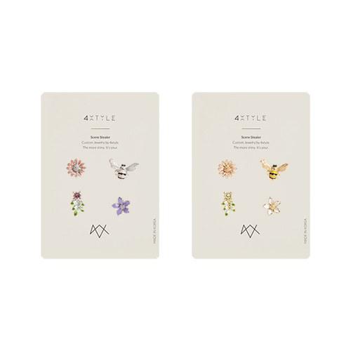 1046932 - <ER1669_CE15> [4Piece 1set] honey bee earrings