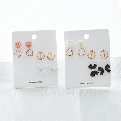 1046934 - <ER1676_CD17> [8Piece 1set] Athletic Earrings