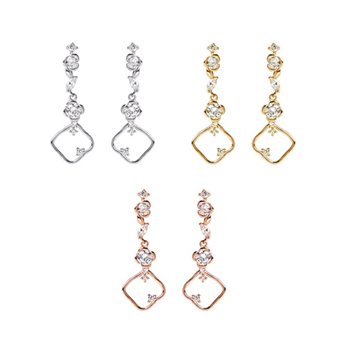 1046935 - <ER1678_DH12> [Silver Post] marronnier earrings