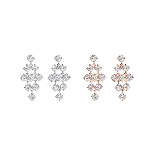 1046936 - <ER1667_DF10> [TVN hundreds of star sponsors from the sky] [Silver Post] Bella Dora cubic earrings