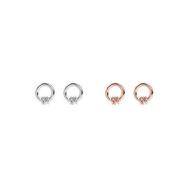 1046968 - <ER1683_DF15> [Silver] Damier earrings