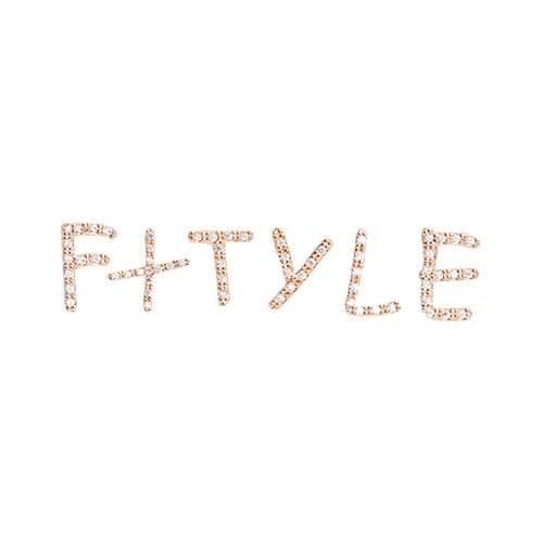 1046983 - <ER1689_IH09> [Silver Post] Paula alphabet earrings