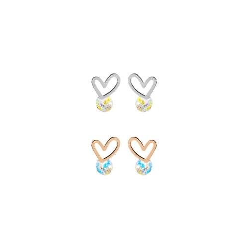1046991 - <ER1693_DH09> [TVN hundreds of star sponsors from the sky] Terrin heart earrings