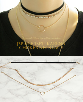 1047074 - <NE489_BC09> [3Piece 1set] Karen choker necklace