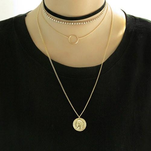 1047074 - <NE489_BC09> [3Piece 1set] Karen choker necklace