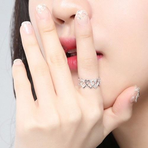 1046755 - <RI775_JA21> bling heart ring