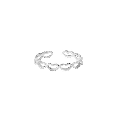 1046993 - <RI794_AD17> [TVN hundreds of star sponsors from the sky] [Silver] Blow heart ring