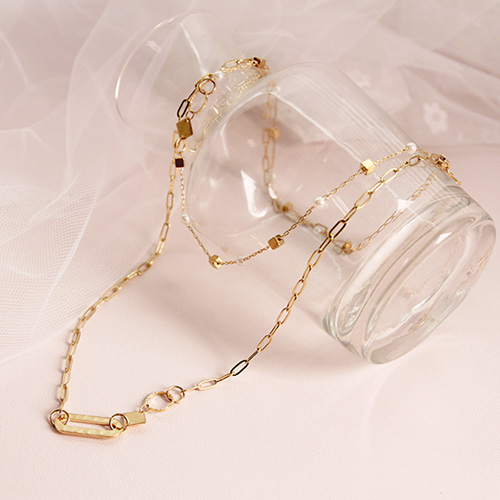 1047117 - <NE500_BC03> Jelly 2line choker necklace