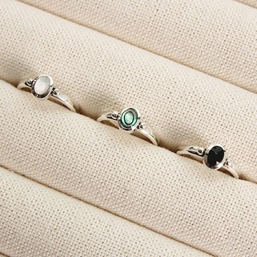 1047124 - <RI802_JG10> [Silver] Lucas gemstone ring