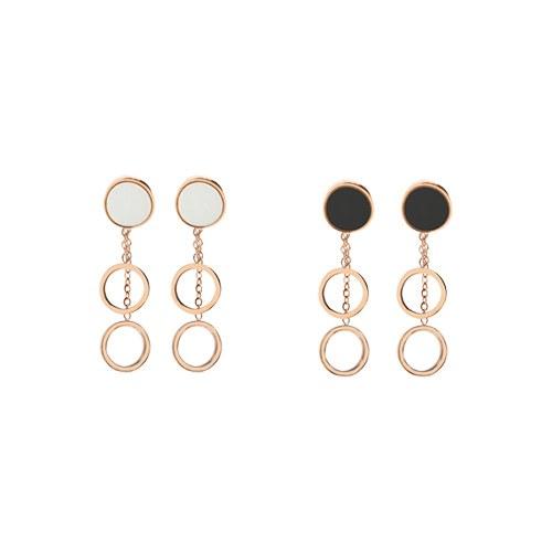 1047127 - <ER1762_GI06> [Stainless steel] Mori two-way earrings