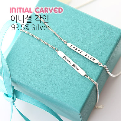 1043428 - <NE213-A> [4xtyle Made] [Silver] 4mm Silver carving necklace