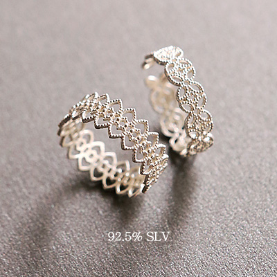 1044049 - <RI510_AE01> [Same day shipping] [Silver] prim lace ring