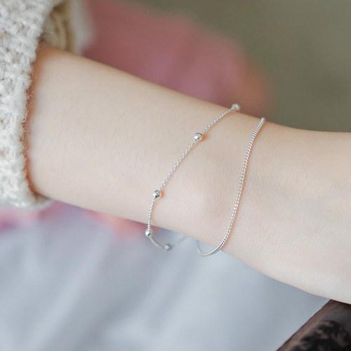 1044401 - <BC515_IG08> [Same day delivery] [Silver] misty bracelet