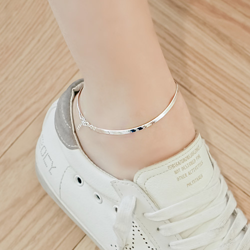 1044607 - <BC565_IH00> [Same day shipping] [Silver] 3mm snake chain anklet