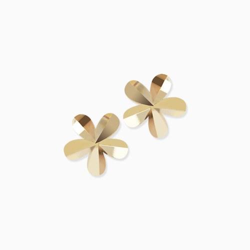 1046274 - <ER1471_GH14> [10K Gold] cutting Mini Flower earrings