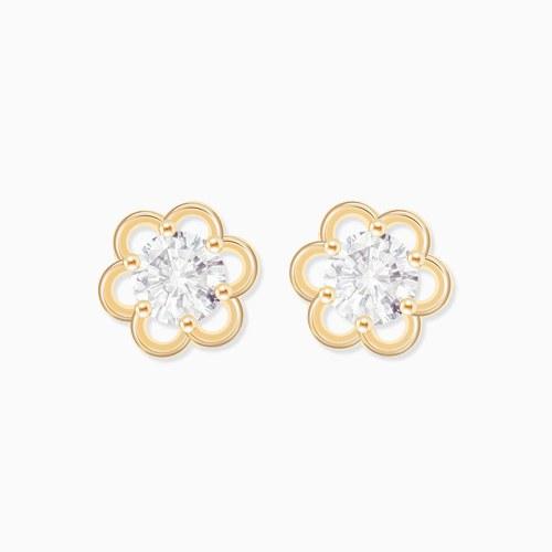 1046292 - <ER1475_GG15> [10K Gold] Annie Flower earrings