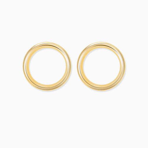 1046294 - <ER1474_GG15> [10K Gold] petit round earrings