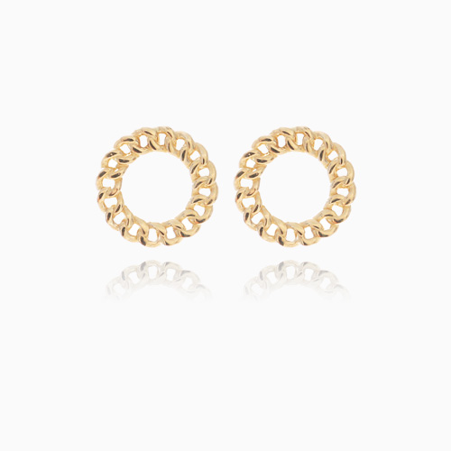 1046306 - <ER1485_GF19> [10K Gold] Mini round chain earrings