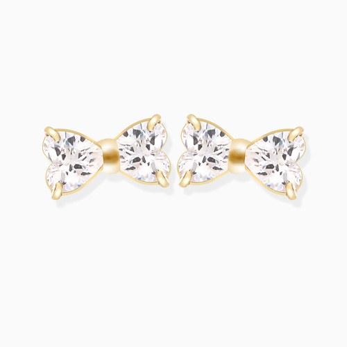 1046342 - <ER1620_GH19> [10K] Mini ribbon earrings