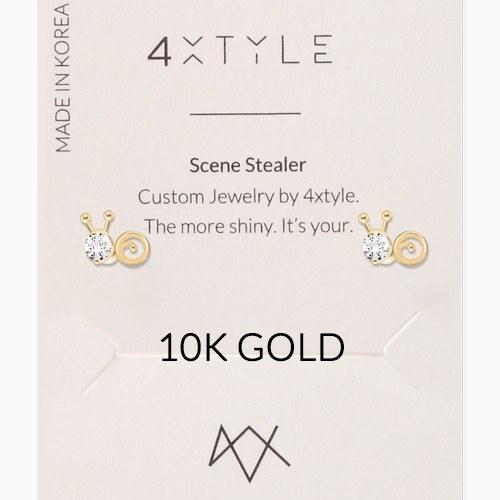 1046348 - <ER1507_GJ19> [10K Gold] Snail earrings