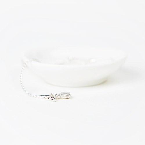 1046880 - <JS301_BD06> [bracelet + anklet] [Silver] Lucia tassel set