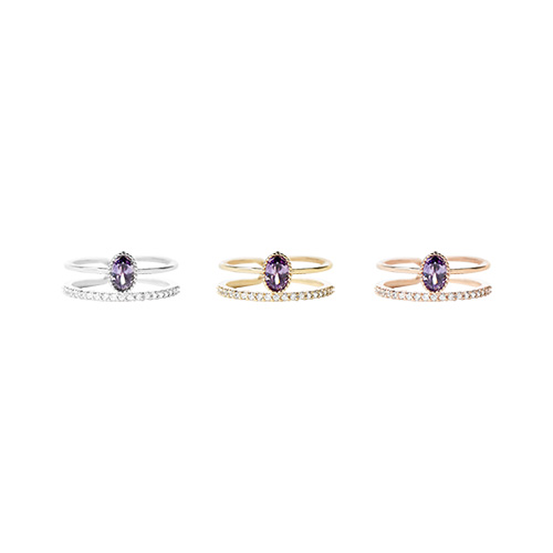1046918 - <RI788_AF05> Giselle two line ring