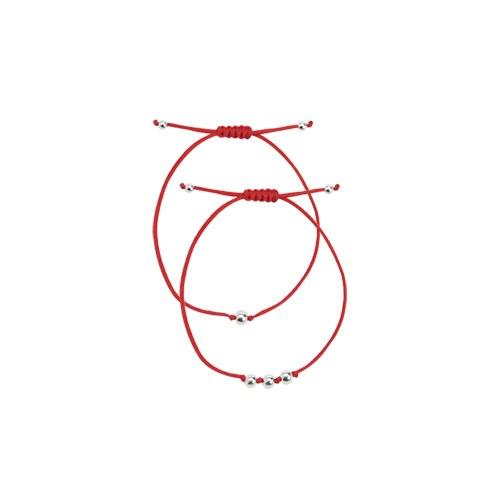 1046954 - <BC734_BE07> [Silver] Nub ball bracelet