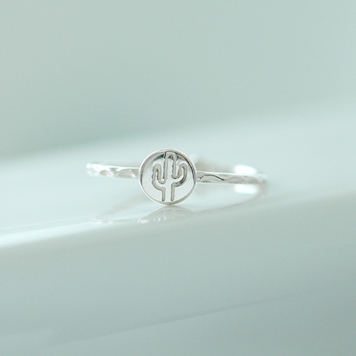 1046964 - <RI791_AH14> [Silver] Cocktail slim ring