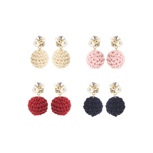 1047147 - <ER1748_DJ19> [clip type] Sign ad ball earrings