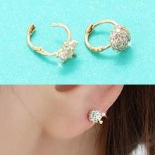 226837 - <K14J005-JA10> [Best love KooAeJeong] [10k Gold] cubic point ring (earflaps) earrings