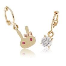 228389 - <K14J006-JB10> [Best love KooAeJeong] [ver.2] [10k Gold] cubic point ring (earflaps) earrings