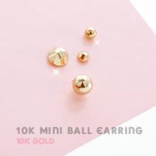 229604 - <K14J008-GL14/15> [Future choose Na Mi-rae] [10K Gold] Mini ball earrings
