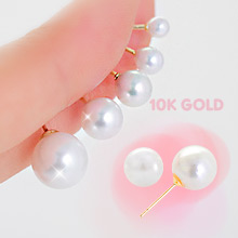 230306 - <K14J012-GI17> [Unique] [10K Gold] Nuclear pearl earrings