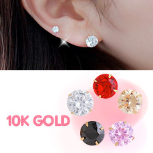230311 - <K14J013-GL20> [Winter, the wind blows Oh Young] [Sold separately] [10K Gold] basic cubic earrings