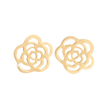 230327 - <K14J015-GJ16> [Single sale] [10K Gold] petit rose earrings