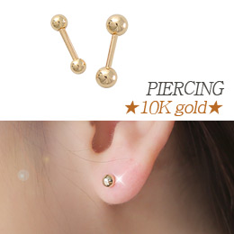 237181 - <ER541-GI14> [Single sale] [10K Gold] ball piercing