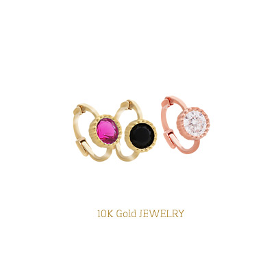 1043948 - <ER875-JB12> [Sold separately] [10k Gold] colorful minimal ring (earflaps) earrings