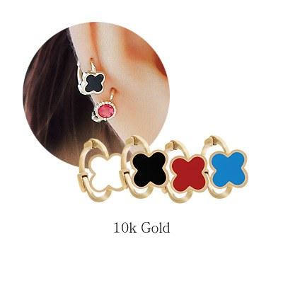 1043951 - <ER874-JB12> [Single sale] [10k Gold] Mini Flower ring (earflaps) earrings