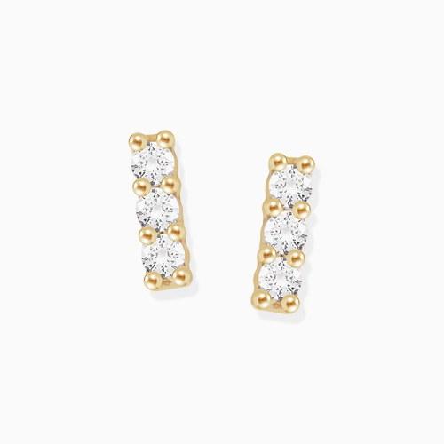 1046236 - <ER1457_GI18> [10K Gold] Mini cubic stick earrings