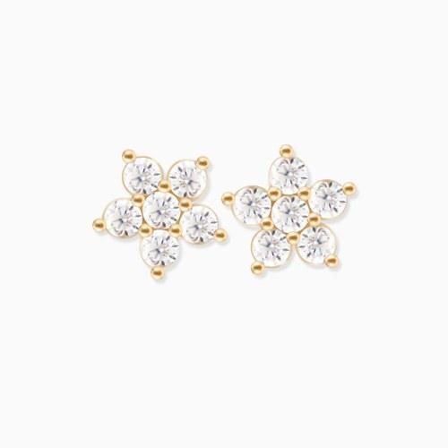 1046248 - <ER1462_GG19> [10K Gold] Bebe Flower earrings