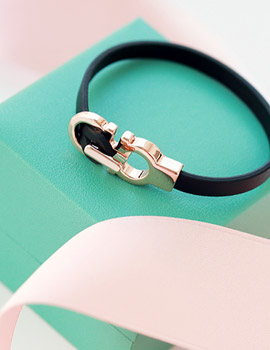 1043345 - <BC343-S> [Immediate out of stock] Lexington leather bracelet