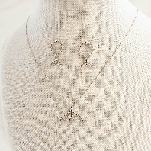 1047169 - <JS309_IE04> [earrings + necklace] Edith dolphin set