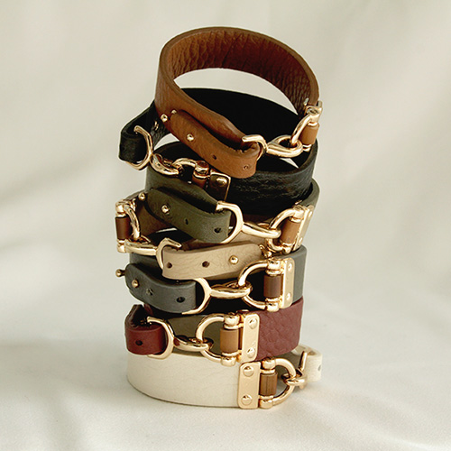 1047190 - <BC741_HH08> Coomerie leather bracelet