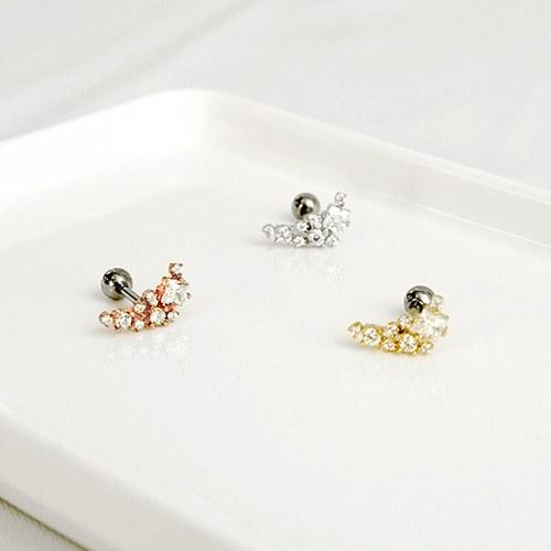 1047200 - <ER1783_GI13> Halfmoon cubic piercing