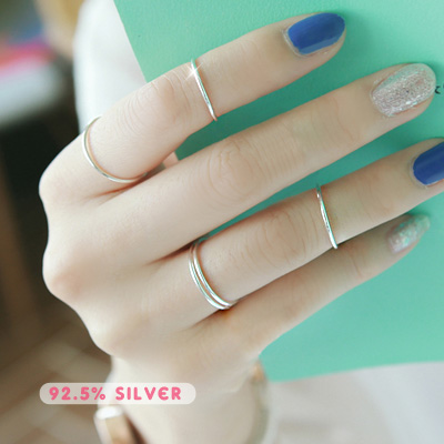 1043492 - <RI433-AA12> [Silver] fine ultra slim ring