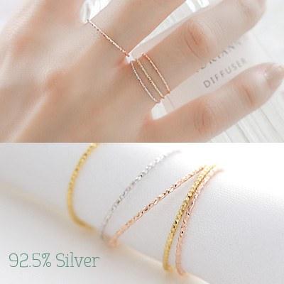 1043733 - <RI471-JB12> [Silver] Italy slim ring