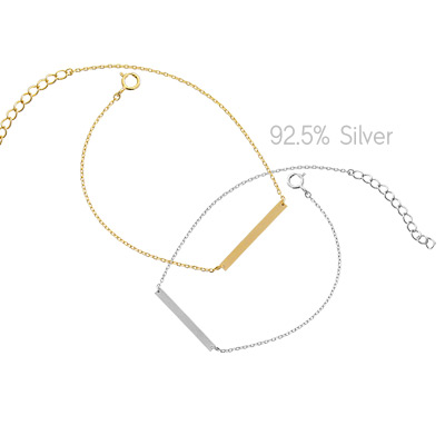 1043915 - <BC454-IC01> [Silver] double stick bracelet